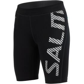 Salming Power Logo - Pantalones cortos running Mujer - gris/negro